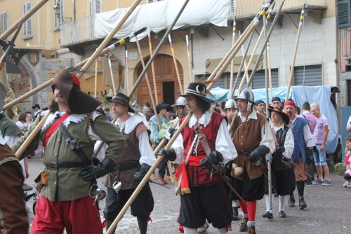 In costume at the Seige of Canelli