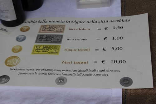 The exchange rate at the Seige of Canelli