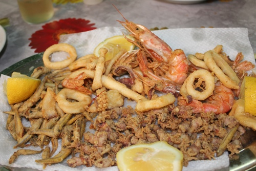 Fabulous mixed seafood at Zia Pina in Palermo