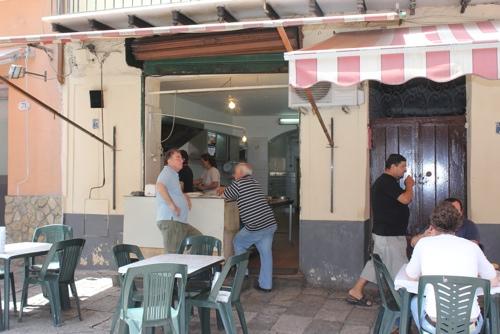 Outside Zia Pina, Palermo