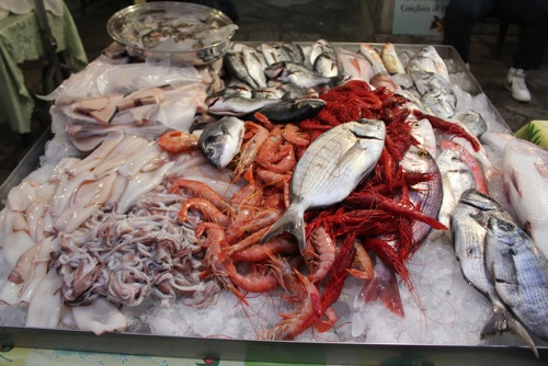 Fresh fish at Da Salvo, Palermo
