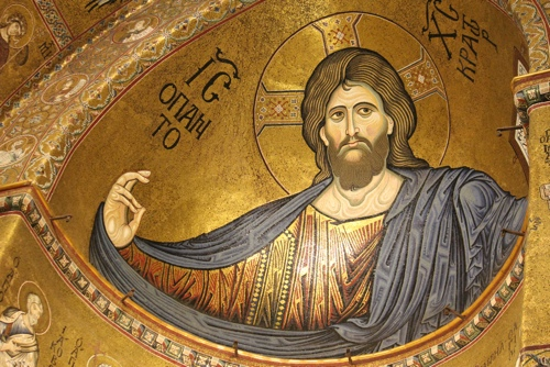 The Apse Mosaic of Christ the Pantocrator in the Monreale Cathedral