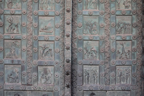 Bronze doors at Monreale Cathedral