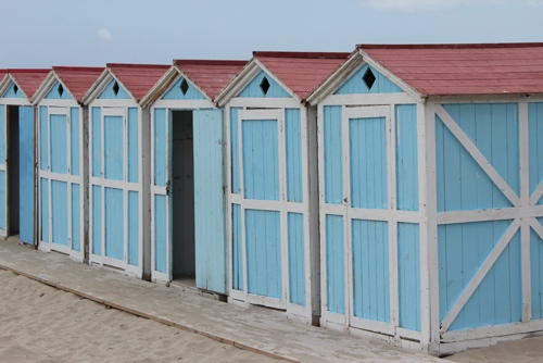 Beach cabins at Mondello