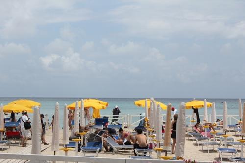 Private beach club at Mondello