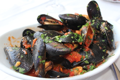 Mussels at Da Calogero in Mondello