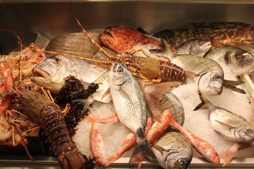 Seafood selection at Piccolo Napoli, Palermo