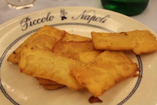 Panelle at Piccolo Napoli, Palermo