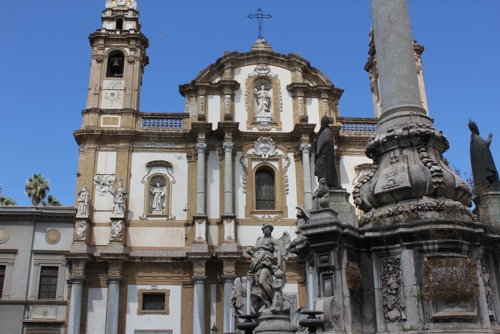Church of San Domenico in Piazza San Domenico in Palermo