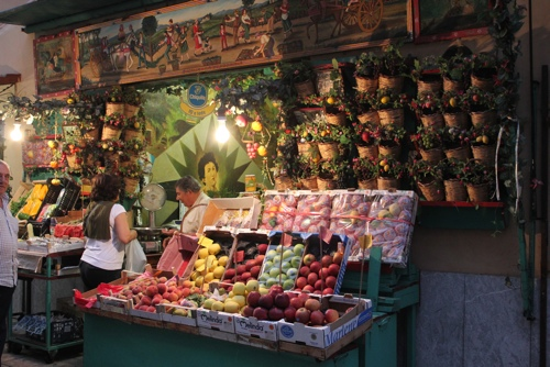 Fruit shop in Piazza Kalsa, Palermo