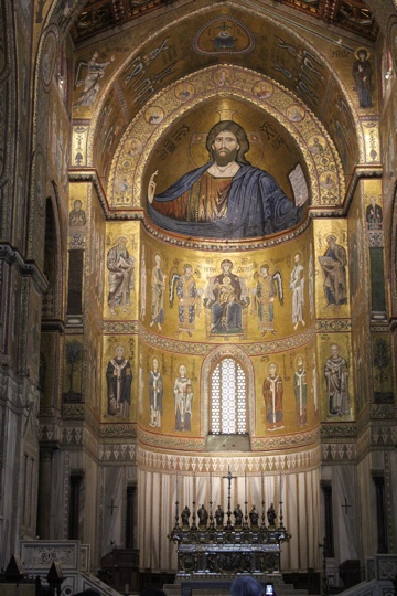 The central apse of the Monreale Cathedral