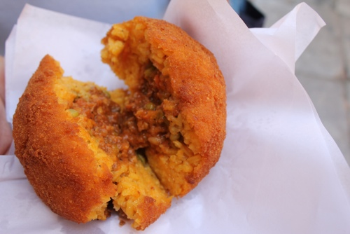 Arancini from Bar Touring in Palermo