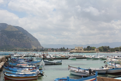 View of Mondello with the Charleston and Mt Pellegrino in the background