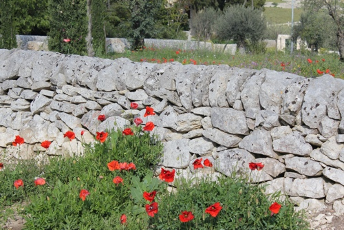 Stone walls in Sicily