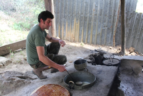 Making cheese with Guilio in tbe Madonie Mountains, Sicily
