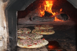 Pizza at Calvino's in Trapani, Sicily
