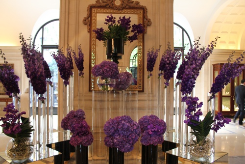 Flowers at the Hotel George V in Paris