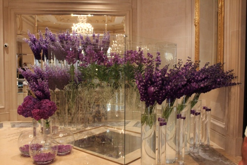 Flowers at the George V in Paris
