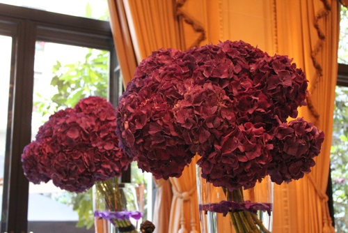 Hydrangeas at the George V in Paris