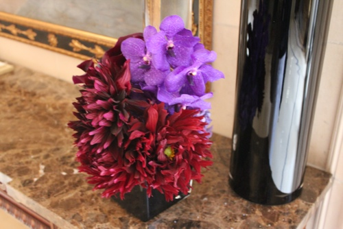Orchids and Dahlias at George V in Paris