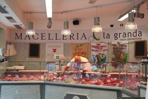 Meat selection at Eataly, Turin
