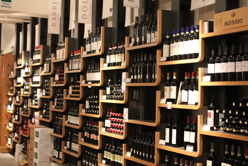 Wines at Eataly, Turin