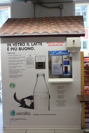 Milk vending machine at Eataly in Turin