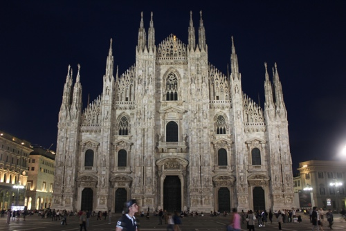 The Duomo in Milan at night