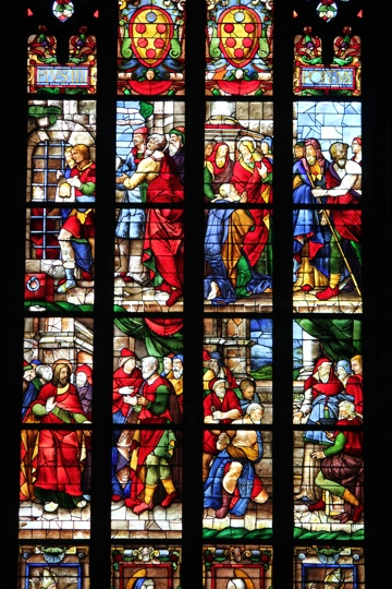 Stained glass window in the Duomo in Milan