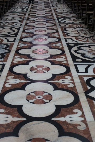 Inlaid marble floor of Milan's Duomo