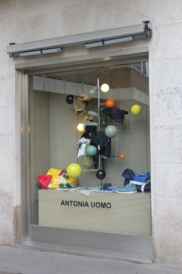 Window at Antonio Uomo in Milan