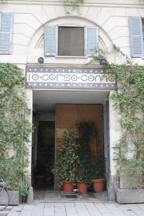Entrance to Dieci Corso Como in Milan