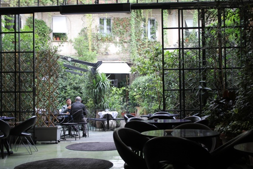 Courtyard Cafe at 10 Corso Como in Milan
