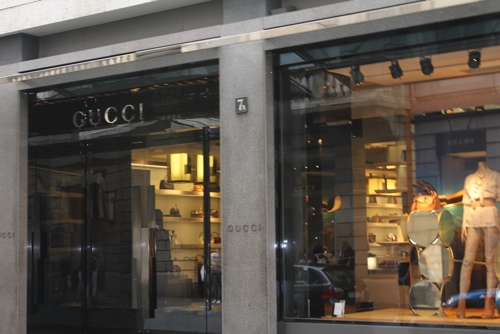 Gucci on Via Montenapoleone, Milan