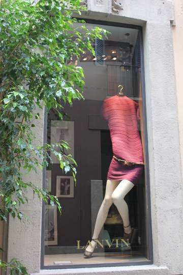 Lanvin shop on Via della Spiga, Milan