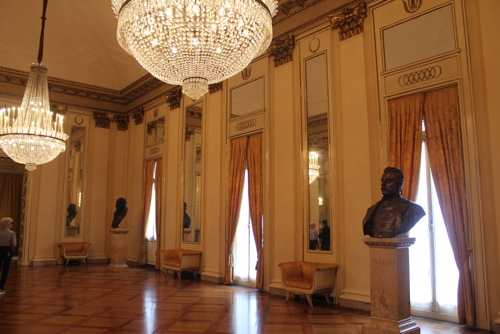 Foyer off the boxes at La Scala, Milan