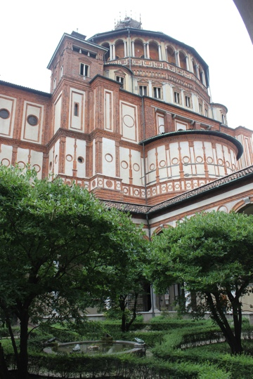 Bramante's Dome on the Church of Santa Maria delle Grazie in Mila