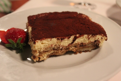 Tiramisu at Osteria del Binari in Milan