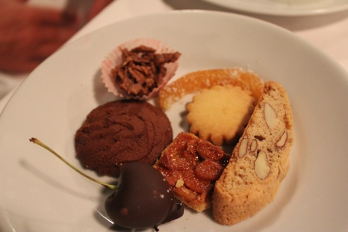 After dinner goodies at Osteria del Binari in Milan