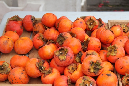 Persimmons at the Abbotsford Convent Market in Melbourne