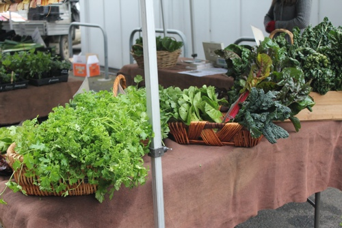 Vegetable stall at the Abbotsford Market in Melbourne