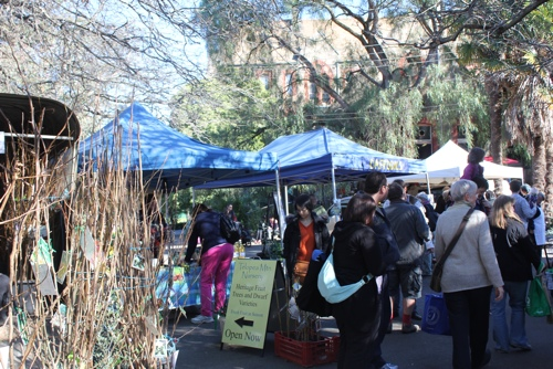 Stall Holders dot the grounds of the Abbotsford Convent in Melbourne