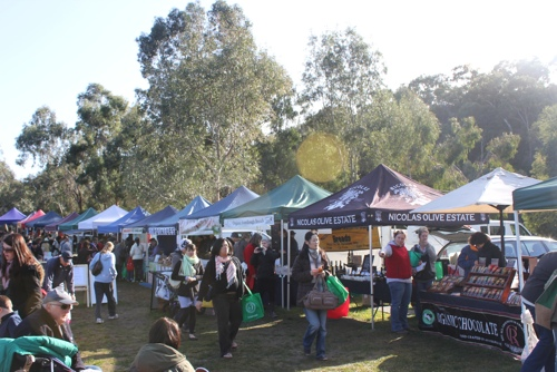 Produce Stalls at the Collingwood Children's Farm Market in Melbourne