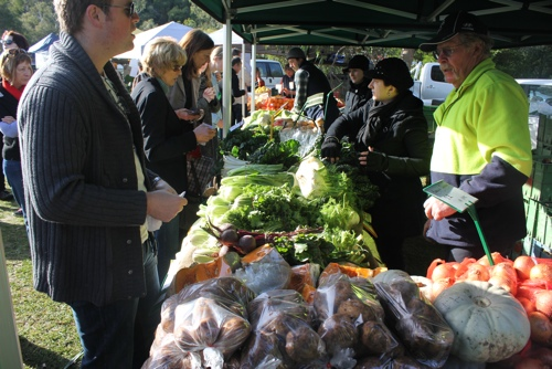 Seasonal Produce at the Collingwood Children's Farm Market in Melbou