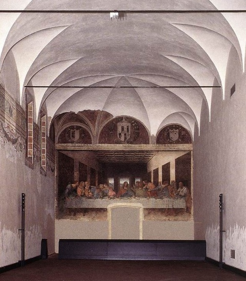"Leonardo da Vinci's ""The Last Supper"" in Milan"