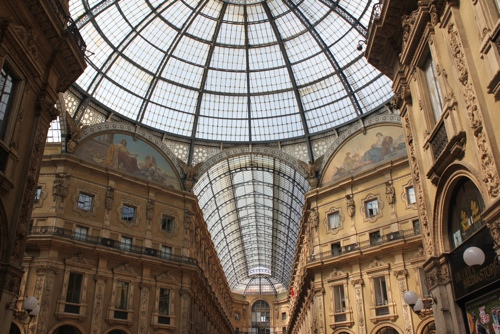 The Dome of the Galleria Vittoria Emanuele in Milan