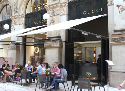 Gucci Cafe at the Galleria Vittoria Emanuele in Milan