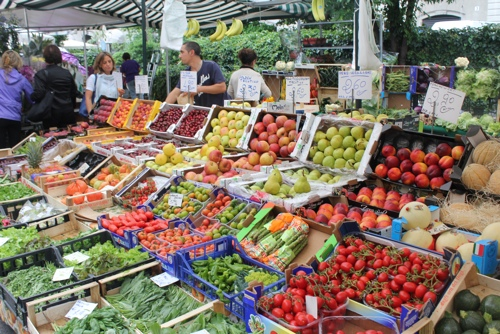 Fruit and Vegetables at the San Marco Markets in Milan