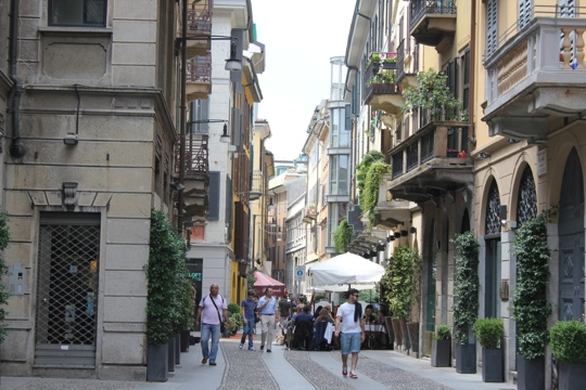 Cobblestone Streets in the Brera in Milan