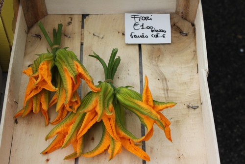Zucchini Flowers at the Via San Marco Markets in